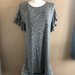 2/$20 Xhilaration Gray dress with ruffled sleeve